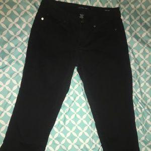 Calvin Klein Jeans Size 8 Black Skinny Crop Pants